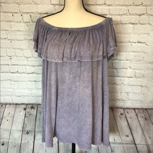 NWT Off the shoulder purple blouse